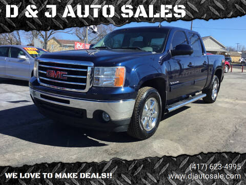 2012 GMC Sierra 1500 for sale at D & J AUTO SALES in Joplin MO