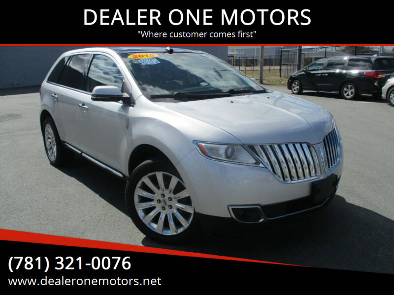 2015 Lincoln MKX for sale at DEALER ONE MOTORS in Malden MA