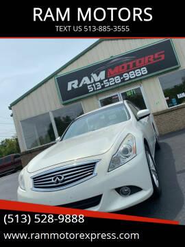 2012 Infiniti G37 Sedan for sale at RAM MOTORS in Cincinnati OH