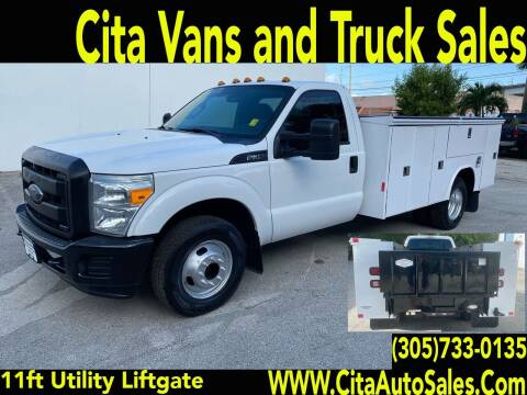 2012 FORD F350 SD DRW 11 FT UTILITY TRUCK LIFTGATE for sale at Cita Auto Sales in Medley FL