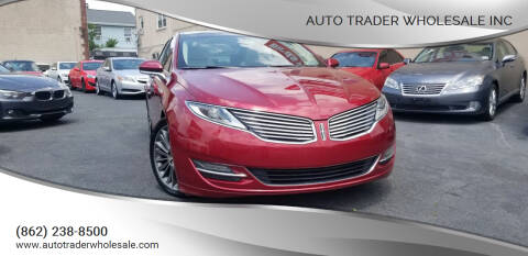 2013 Lincoln MKZ for sale at Auto Trader Wholesale Inc in Saddle Brook NJ