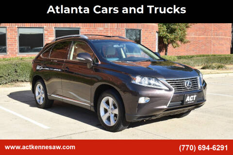 2013 Lexus RX 350 for sale at Atlanta Cars and Trucks in Kennesaw GA