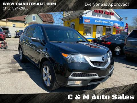2012 Acura MDX for sale at C & M Auto Sales in Detroit MI