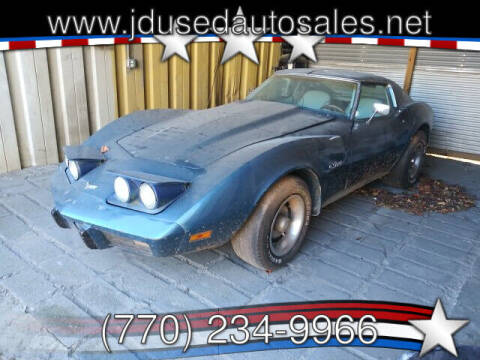 1977 Chevrolet Corvette for sale at J D USED AUTO SALES INC in Doraville GA