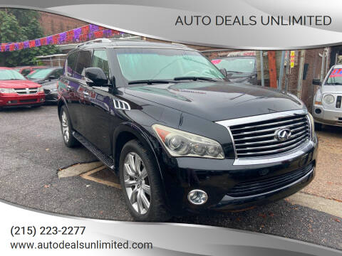 2011 Infiniti QX56 for sale at AUTO DEALS UNLIMITED in Philadelphia PA