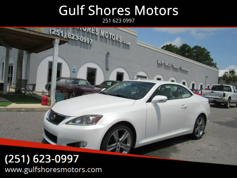 2012 Lexus IS 250C for sale at Gulf Shores Motors in Gulf Shores AL