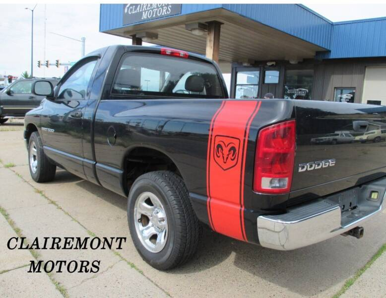2003 Dodge Ram Pickup 1500 for sale at Clairemont Motors in Eau Claire WI