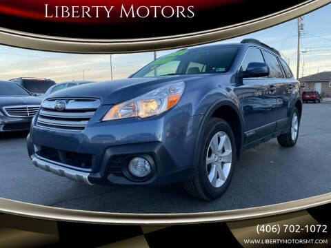 2013 Subaru Outback for sale at Liberty Motors in Billings MT