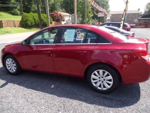 2011 Chevrolet Cruze for sale at RJ McGlynn Auto Exchange in West Nanticoke PA