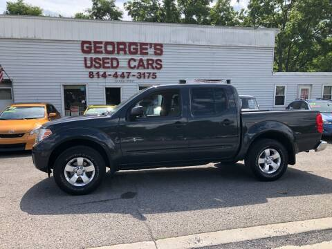 2012 Nissan Frontier for sale at George's Used Cars Inc in Orbisonia PA