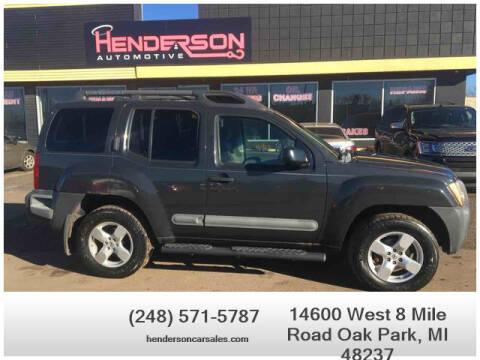 2007 Nissan Xterra for sale at Henderson Automotive, LLC in Oak Park MI