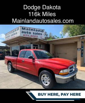 2001 Dodge Dakota for sale at Mainland Auto Sales Inc in Daytona Beach FL