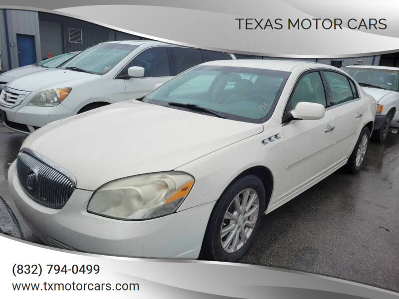 2011 Buick Lucerne for sale at TEXAS MOTOR CARS in Houston TX