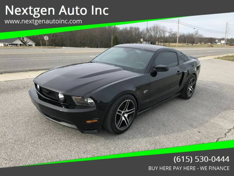 2010 Ford Mustang for sale at Nextgen Auto Inc in Smithville TN