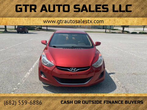 2012 Hyundai Elantra for sale at GTR Auto Sales LLC in Haltom City TX