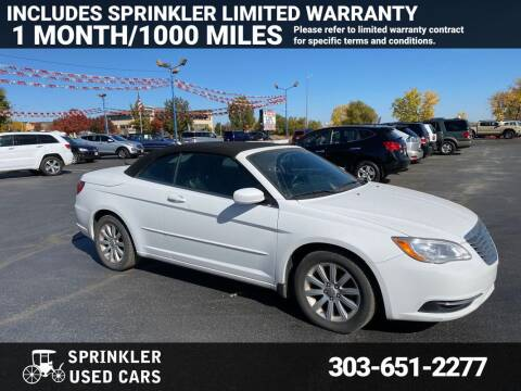 2011 Chrysler 200 Convertible for sale at Sprinkler Used Cars in Longmont CO