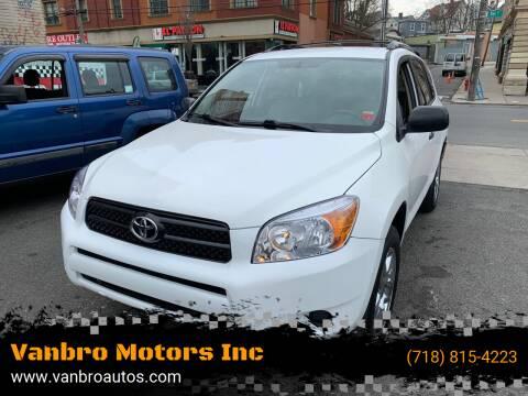 2006 Toyota RAV4 for sale at Vanbro Motors Inc in Staten Island NY