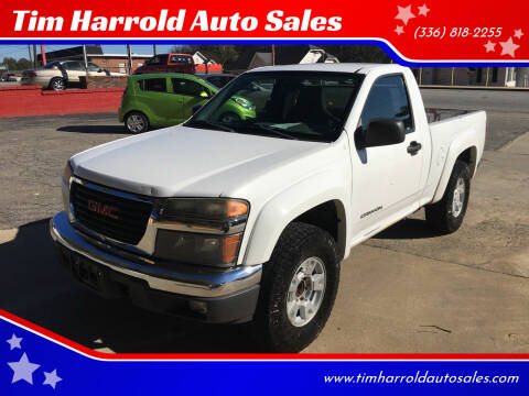 2004 GMC Canyon for sale at Tim Harrold Auto Sales in Wilkesboro NC