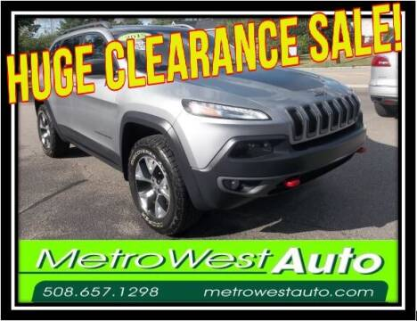 2015 Jeep Cherokee for sale at Metro West Auto in Bellingham MA