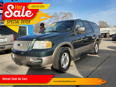 2004 Ford Expedition for sale at Detroit Cash for Cars in Warren MI