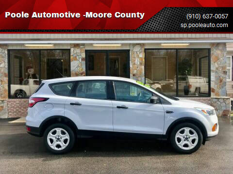 2017 Ford Escape for sale at Poole Automotive -Moore County in Aberdeen NC