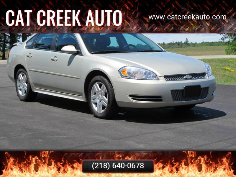 2012 Chevrolet Impala for sale at CAT CREEK AUTO in Menahga MN