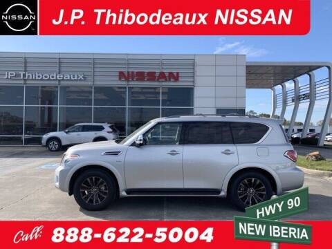 2020 Nissan Armada for sale at J P Thibodeaux Used Cars in New Iberia LA