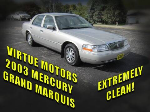 2003 Mercury Grand Marquis for sale at Virtue Motors in Darlington WI