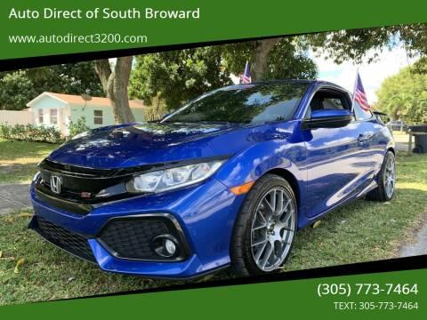 2018 Honda Civic for sale at Auto Direct of South Broward in Miramar FL