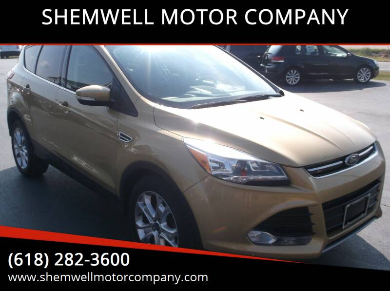 2014 Ford Escape for sale at SHEMWELL MOTOR COMPANY in Red Bud IL