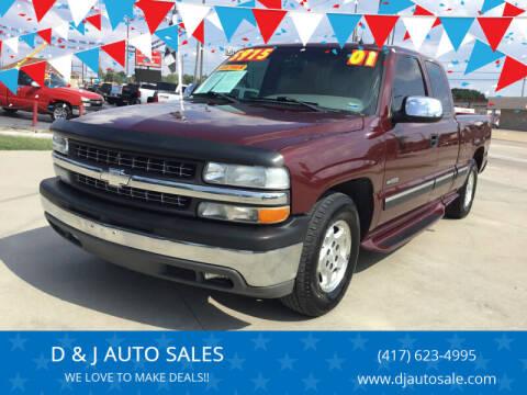 2001 Chevrolet Silverado 1500 for sale at D & J AUTO SALES in Joplin MO
