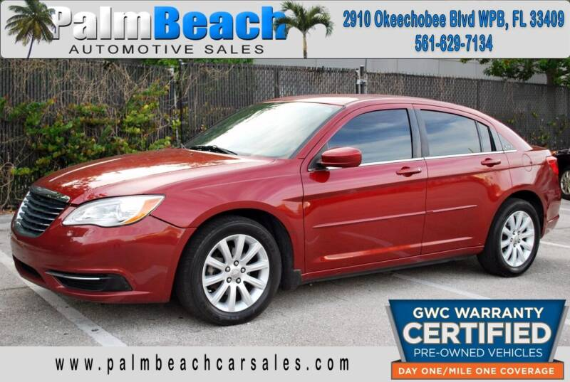 2014 Chrysler 200 for sale at Palm Beach Automotive Sales in West Palm Beach FL