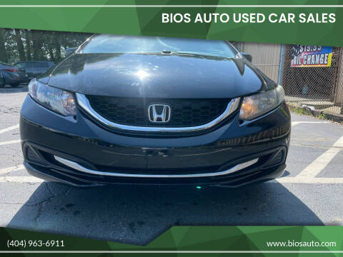 2014 Honda Civic for sale at BIOS AUTO Used Car Sales in Atlanta GA