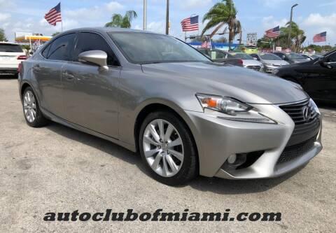 2014 Lexus IS 250 for sale at AUTO CLUB OF MIAMI in Miami FL