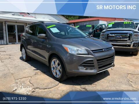 2013 Ford Escape for sale at SR Motors Inc in Gainesville GA