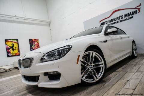 2015 BMW 6 Series for sale at AUTO IMPORTS MIAMI in Fort Lauderdale FL
