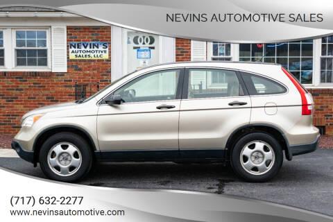 2008 Honda CR-V for sale at Nevins Automotive Sales in Hanover PA