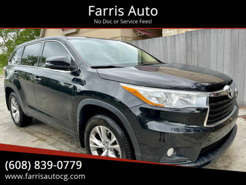 2016 Toyota Highlander for sale at Farris Auto in Cottage Grove WI