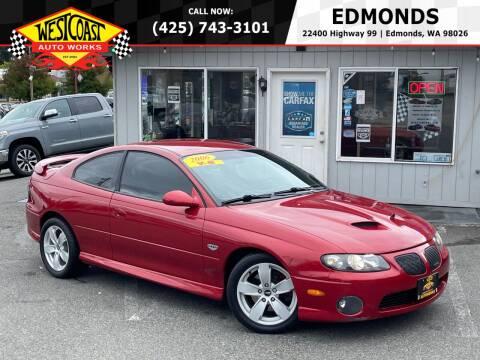 2006 Pontiac GTO for sale at West Coast Auto Works in Edmonds WA