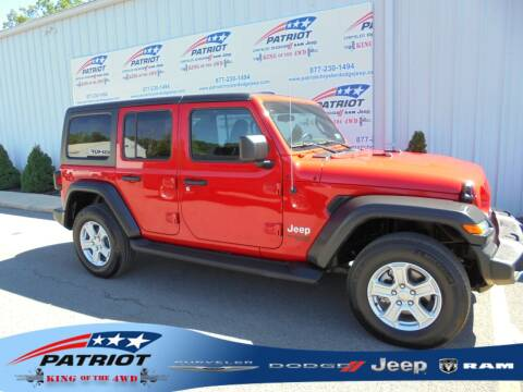 2018 Jeep Wrangler Unlimited for sale at PATRIOT CHRYSLER DODGE JEEP RAM in Oakland MD