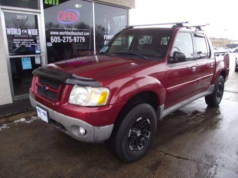2002 Ford Explorer Sport Trac for sale at World Wide Automotive in Sioux Falls SD