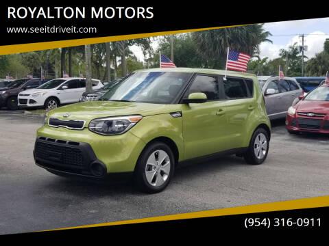 2016 Kia Soul for sale at ROYALTON MOTORS in Plantation FL