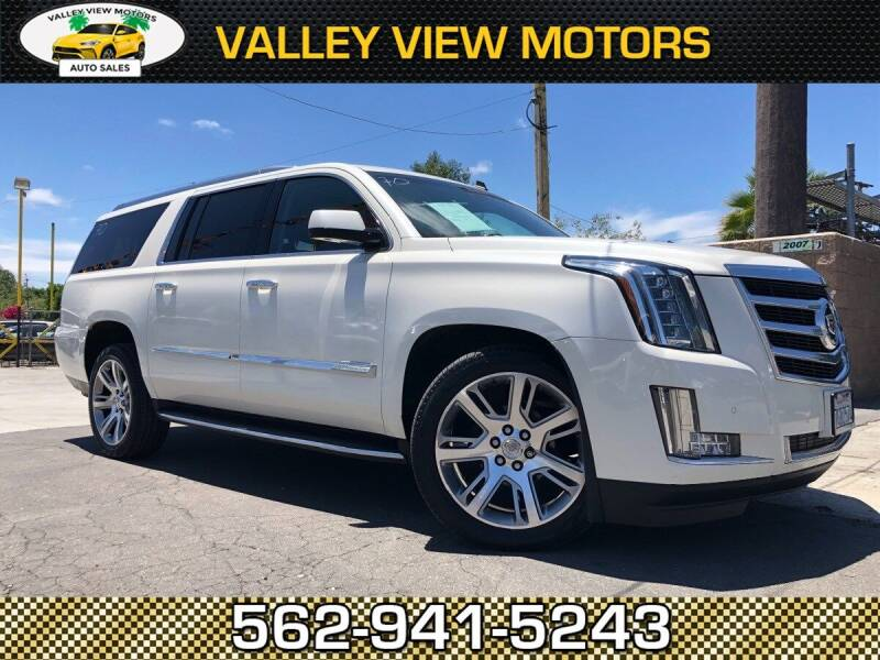 2015 Cadillac Escalade ESV for sale at Valley View Motors in Whittier CA