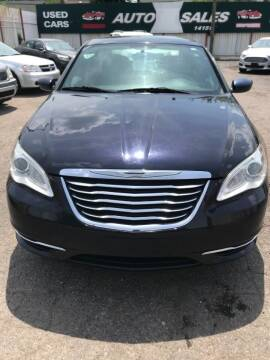 2012 Chrysler 200 for sale at Supreme Stop Auto Sales in Detroit MI