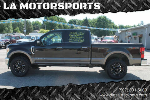 2018 Ford F-250 Super Duty for sale at LA MOTORSPORTS in Windom MN