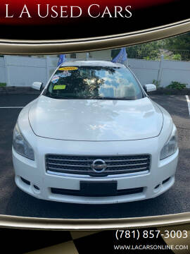 2010 Nissan Maxima for sale at L A Used Cars in Abington MA