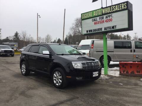 2007 Lincoln MKX for sale at Giguere Auto Wholesalers in Tilton NH