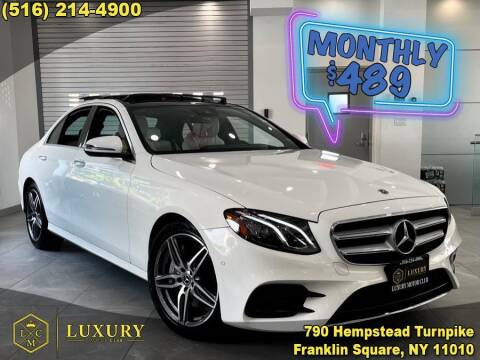 2018 Mercedes-Benz E-Class for sale at LUXURY MOTOR CLUB in Franklin Square NY