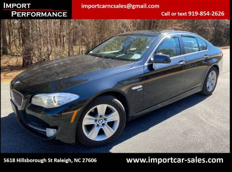 2012 BMW 5 Series for sale at Import Performance Sales in Raleigh NC