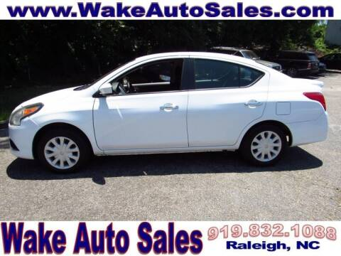 2017 Nissan Versa for sale at Wake Auto Sales Inc in Raleigh NC